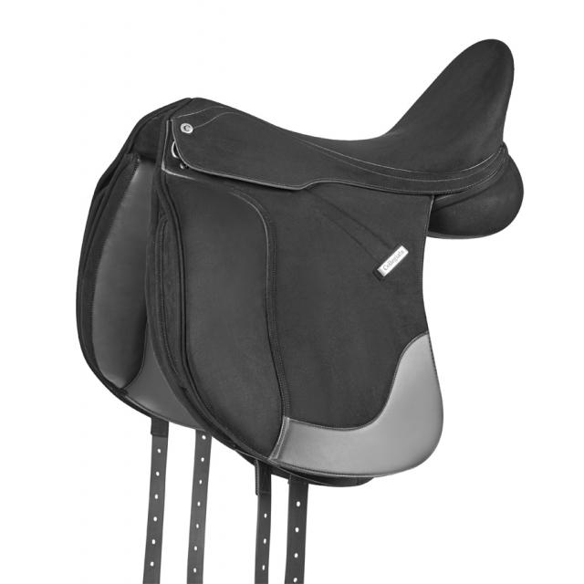 Collegiate Burghley Synthetic Dressage Saddle Black