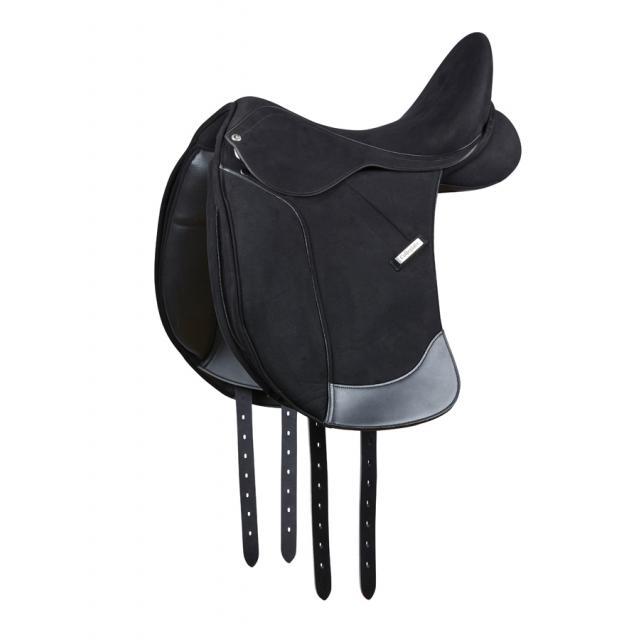 Collegiate Devon Synthetic Dressage Saddle Black