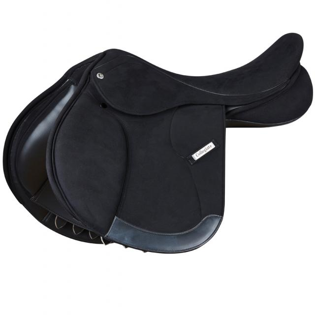 Collegiate Warwick Synthetic Close Contact Saddle Black