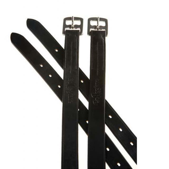 Collegiate Web Core Stirrup Leathers Black