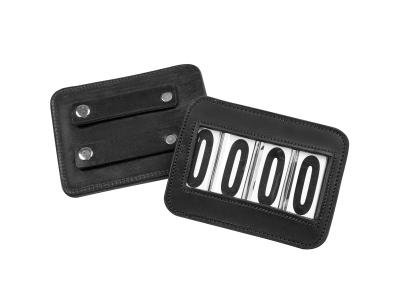 Collegiate Saddlecloth Leather Number Holder Black
