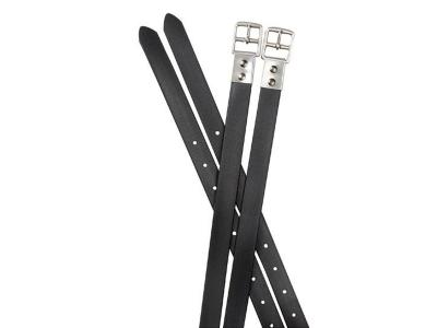 Collegiate Synthetic Stirrup Straps Black